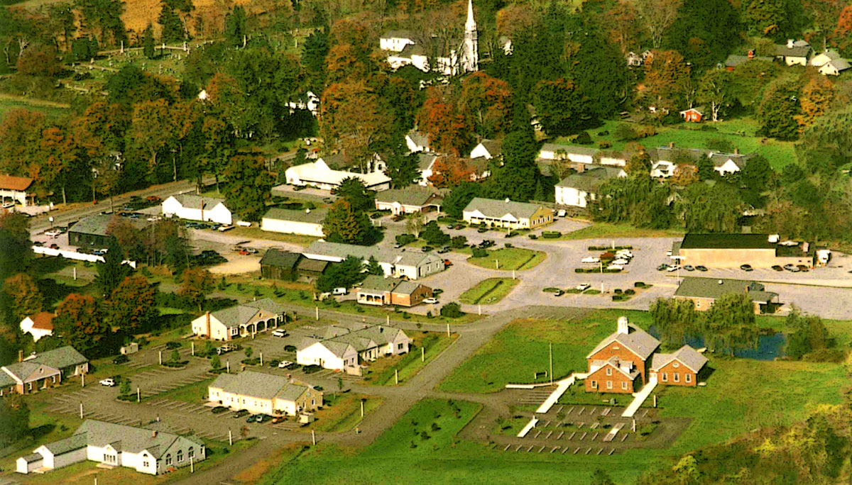 Aerial view of Kent Green in Kent, CT